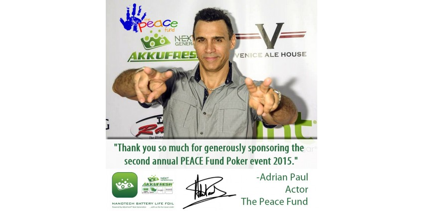 The Peace Fund Celebrity Poker Tournament powered by AkkuFresh® Next Generation™