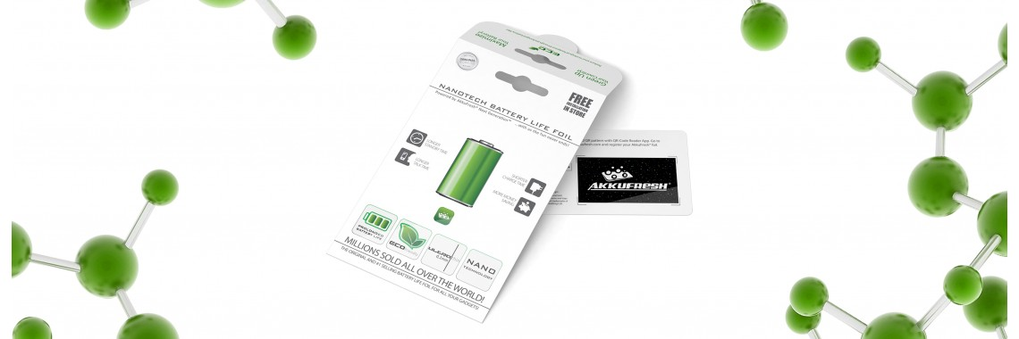 AkkuFresh® - Nanotech Battery Life Foil - single package