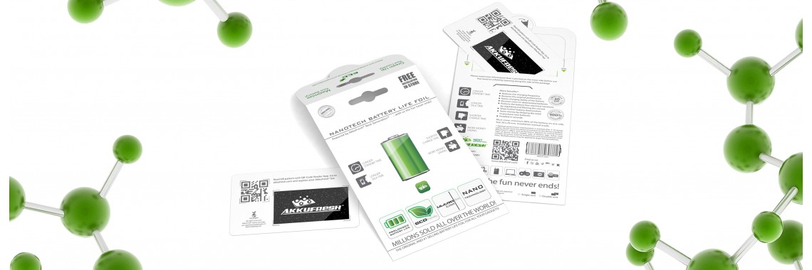 AkkuFresh® - Nanotech Battery Life Foil - double package