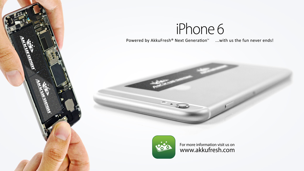 iPhone 6 Powered by Akkufresh® Next Generation